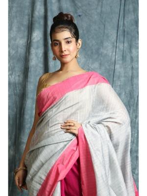 Silver Handloom Kusumdola MahaAchal Saree