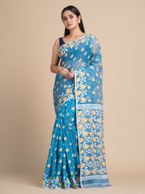 Handloom Floral Dhakai Jamdani Saree - RKB4679