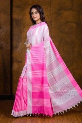Handloom Khadi Cotton Jharna Saree - KHDCTNJ03