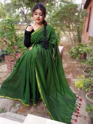 Handloom Duel Tone Khadi Saree - AK40DTN05
