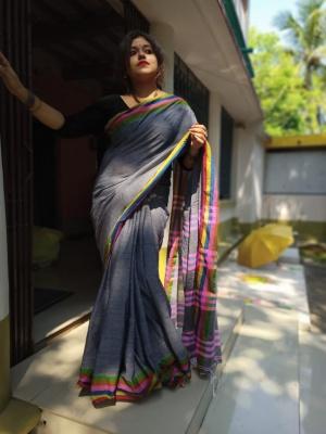 Handloom Khadi Cotton Saree - BS50BHA07