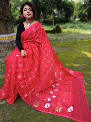 Handloom Minaki Weave Jamdani Saree - KUN-1K2MINA2-07