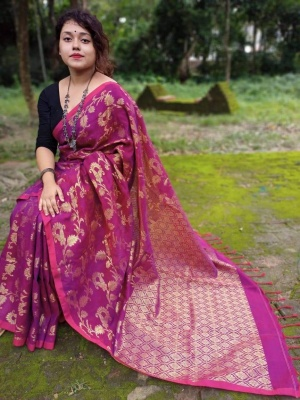 Handloom Slab Linen Cotton Banarashi - PAL-1K2BNCTN-01