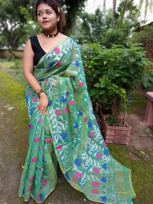 Handloom Allover Flower Buta Jamdani - DSC-1K2RSJAM-05