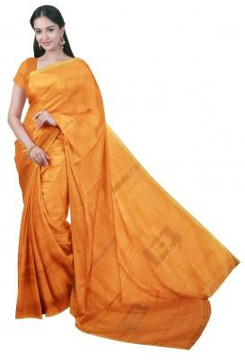 Silver Handloom Box Achal Sequince Saree