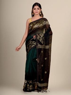 Handwoven Linen By Linen Karat Jamdani - PL-1H3KRTLN-05